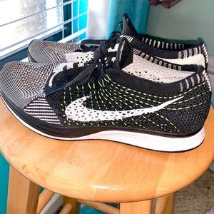 Nike Flyknit Racer in Black, White & Neon Yellow